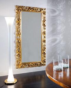 Specchiera vogue cornice barocca foglia argento oro lacc nera biancaxcamera 2175 ebay - Specchio cornice nera barocca ...