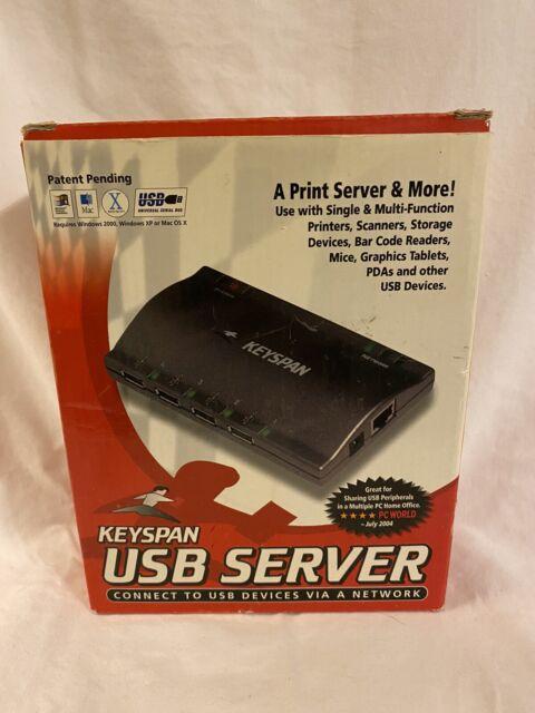 Keyspan 2-Port USB 2.0 10//100 Network Print Server New In Box