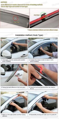 4Pcs Window Visor Vent Shade Rain//Sun//Wind Guard for Lexus CT 200h 2011-2016
