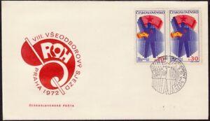 CZECHOSLOVAKIA-1972-Trade-Union-Congress-FDC-unaddressed-D8692