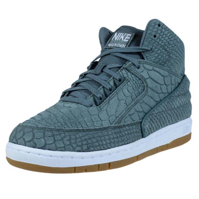 Nike Men's Air Python PRM Green Leather Basketball Shoes 11 Men US