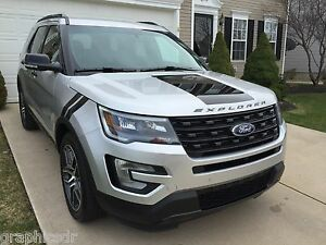 FORD EXPLORER All Models Wrap HOOD Blackout Decal Cover - All ford models 2016