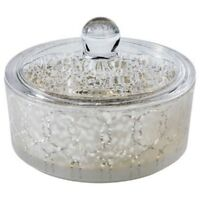 Fieldcrest Glass Luxury Container - Silver Finish