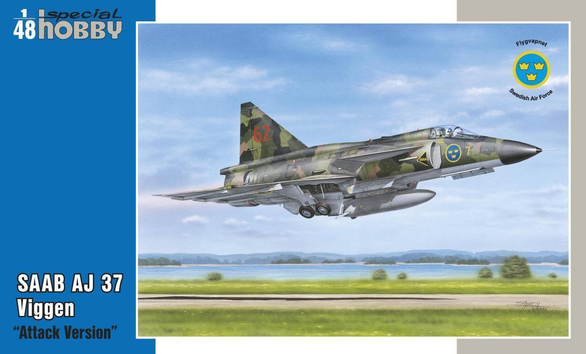 SAAB AJ-37 Viggen Attack Version 1 48 Special Hobby