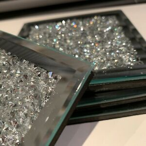 set-of-4-mirrored-crushed-jewel-coasters-mirror-diamante-glass-cup-coaster-mat