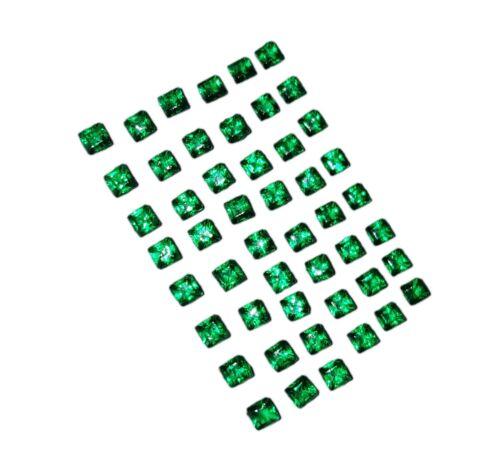 Gemas sueltas 50 piezas de 6 a 7 CT Cuadrado Zambia Esmeraldas Lote