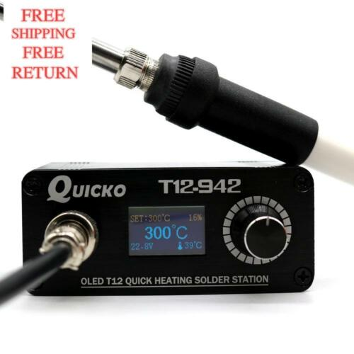 Quicko T12-942 Mini Oled Digital Soldering Station T12-907 Handle With T12-K Iro