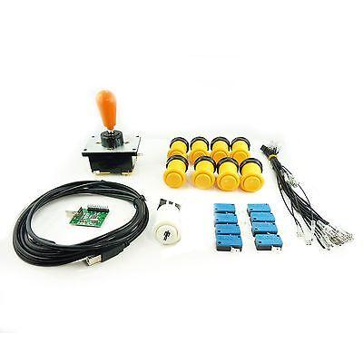 Set Joystick Koreanisch Arcade 1 Player Birne Schaltflächen Amerikaner Gelb Mame Low Price Elektrisches Spielzeug