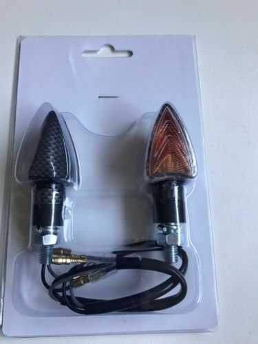 COPPIA FRECCE LAMPADA CARBON CORTE PER APRILIA RS4 50 2011 2012 2013 2014