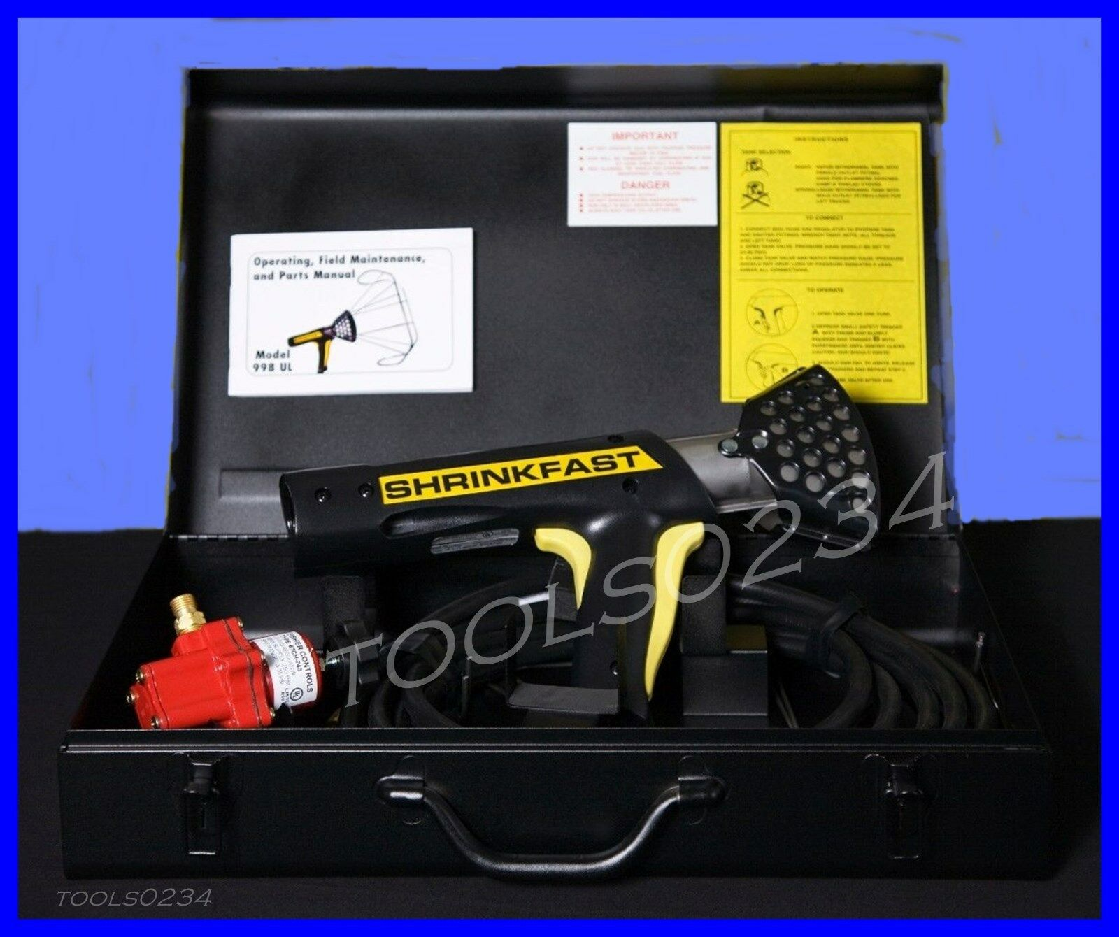 Shrinkfast 998 Psy rapide propane Wrap Film Heat Gun Free Ship US48 États nouveau