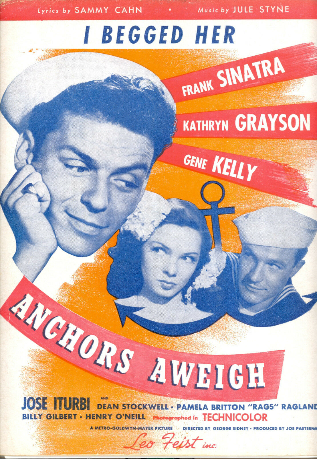 Anchors Aweigh Notenblatt   I'Begged Her   Frank Sinatra Gene Kelly