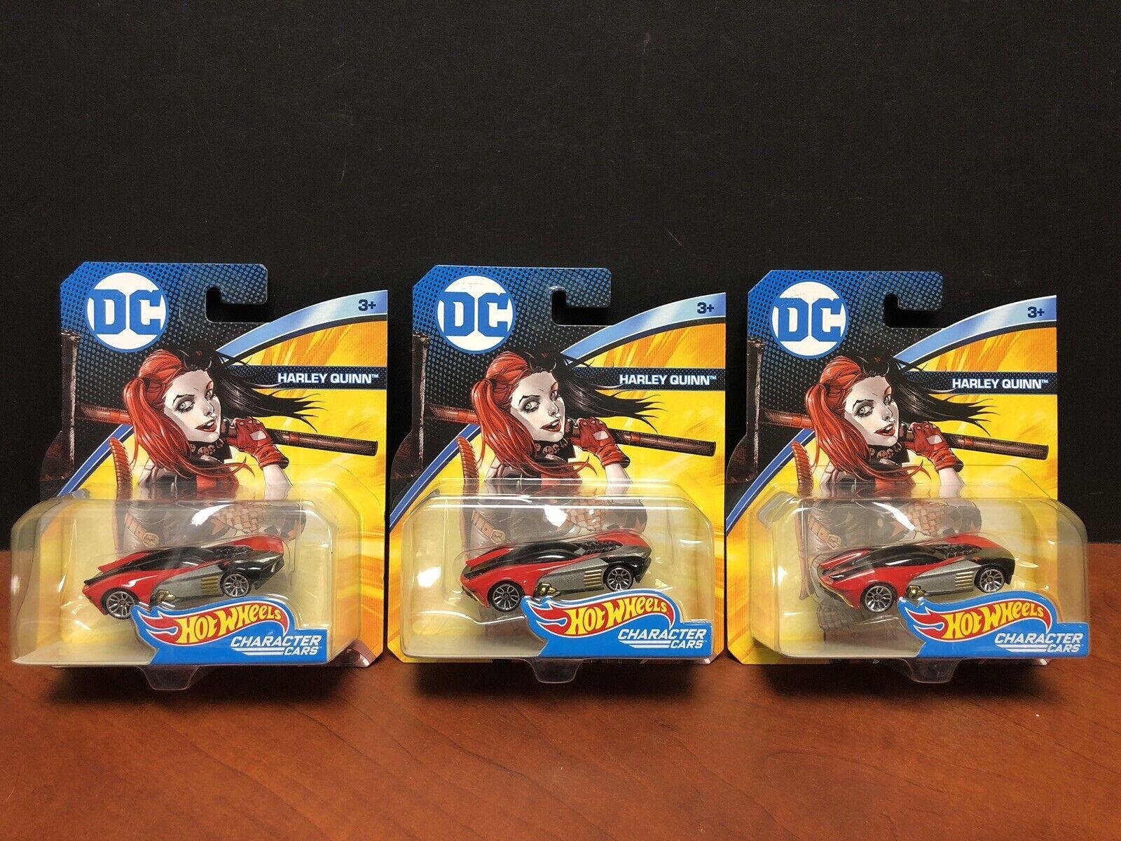 Hot Wtalons  DC Character voitures Harley Quinn Lot Of 3 EM2534  magasin de gros