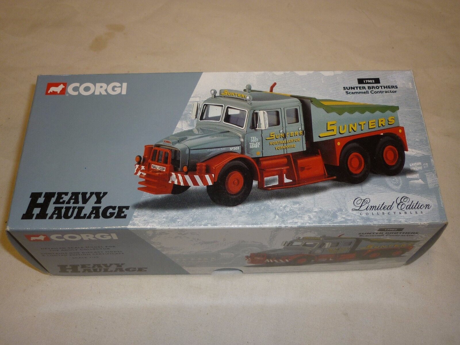 Corgi  cc 17902 Scammell contractor, Sunter bredhers , Boxed
