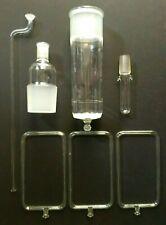 Lot Of Lab Glassware 7 Pcs Chemistry Chromatography Distillation Filtration