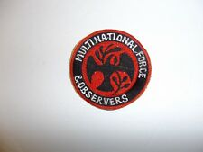 b4192 Multinational Force & Observers Sinai patch black orange IR18A