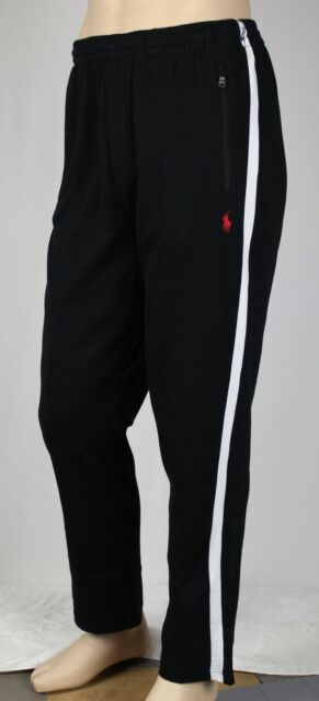 42bbaf79176a3 Polo Ralph Lauren Track Pants Mens 2xb Big 2x Black White Red Pony ...