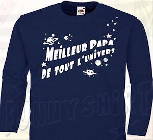 46b0ef4d794 T-SHIRT MEILLEUR PAPA - Tee Shirt Cadeau Fête des Pères Anniversaire ...