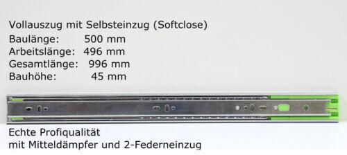 Tiroirs extraits télescopique extraits même retrait Amortisseur Vollauszug 250-700 mm