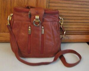 Brown-Cowhide-Leather-PURSE-Shoulder-Bag-Unique-Style-Handbag-Hobo-Satchel