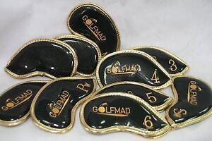 10-Golf-Mad-PU-Iron-head-Covers-Waterproof-Golf-headcovers