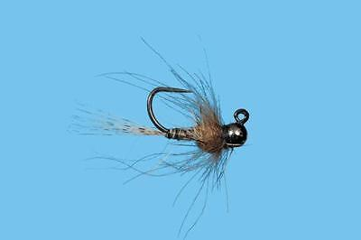 1 Tungsten Jig CDC Yellow Spot Fly Choice of Size 12 14 or 16 Solitude Fly Co