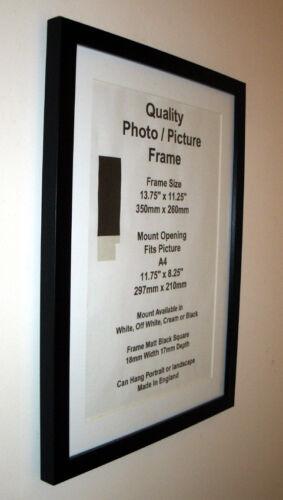 "Black Photo Picture Frame 19mm 3x3/"" 3x4/"" 3x5/"" 3x6 3x7-3x16/"" 3.5x5/"" Glass Mount"