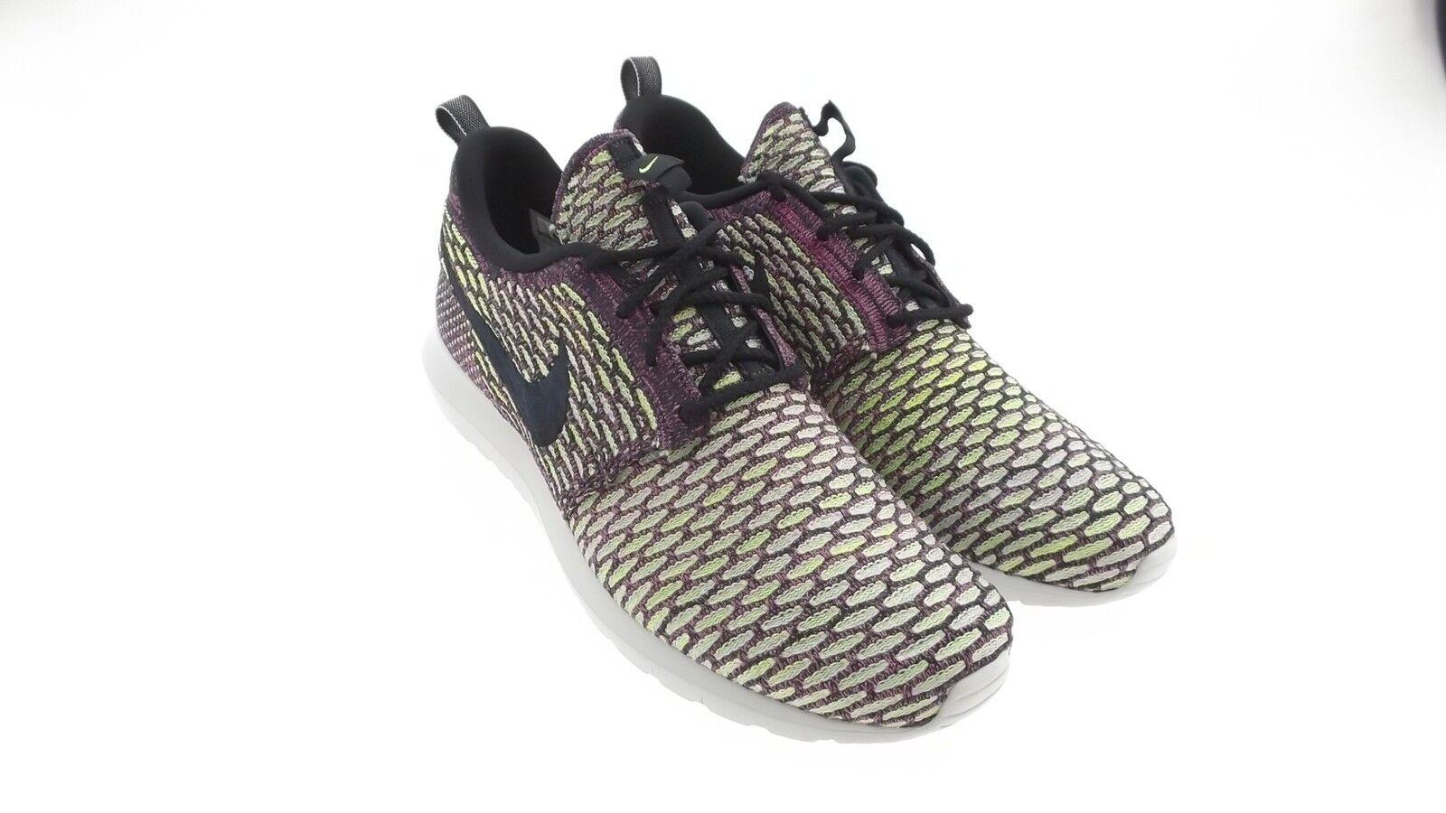 677243-400 Nike Hommes Flyknit Roshe Run neon purple