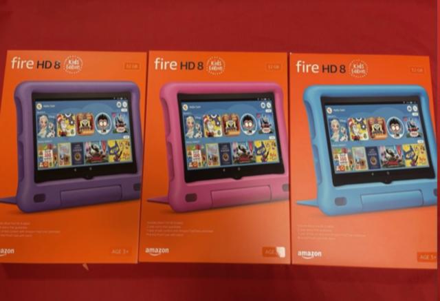 NEW Amazon Fire HD 8 Kids Edition Tablet 32GB (10th Gen) Blue Pink Purple COLORS