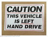 140x90mm LEFT HAND DRIVE STICKER SIGN CAMPER HGV AMERICAN CAR