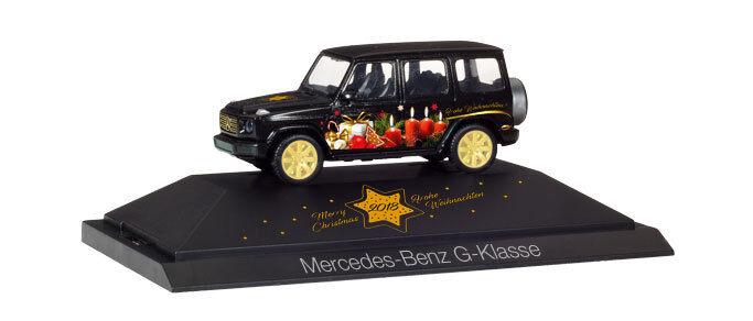 Herpa 102124 H0 H0 H0 PKW Mercedes G-Klasse Herpa Weihnachts-PKW 2018    Preisreduktion  202626
