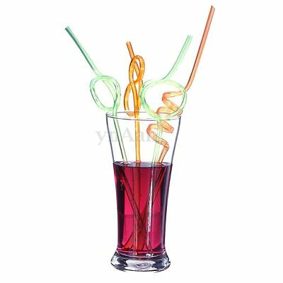 Crazy Curly Novelty Colors Drinking Straw Party Bag Stocking Filler Girl Boy Kid