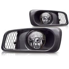 For 1999-2000 Honda Civic Si Type R Chrome Housing Clear Lens Fog Lights Lamps