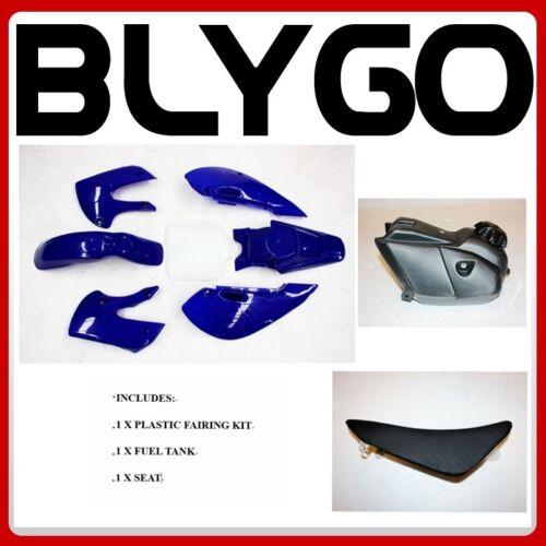 BLUE KLX110 Plastic Fairing Fender Kit Seat Fuel Tank 125c PIT Dirt BigFoot Bike