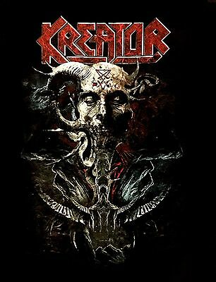 KREATOR cd lgo SATAN IS REAL Official SHIRT XL New gods of violence