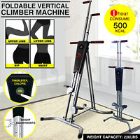 Vertical Climber Cardio Machine Exercise Stepper Workout Fitness Gym Equipment