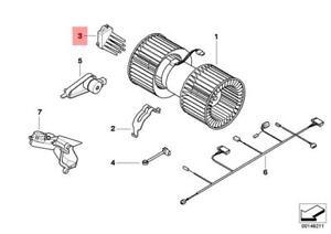 Genuine-BMW-E39-E46-E53-E83-E83N-Heater-Fan-Blower-Resistor-OEM-64116923204