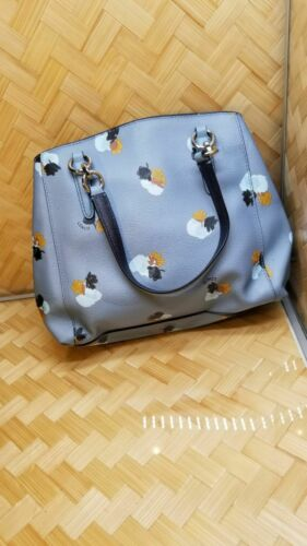 Coach blue tote bag