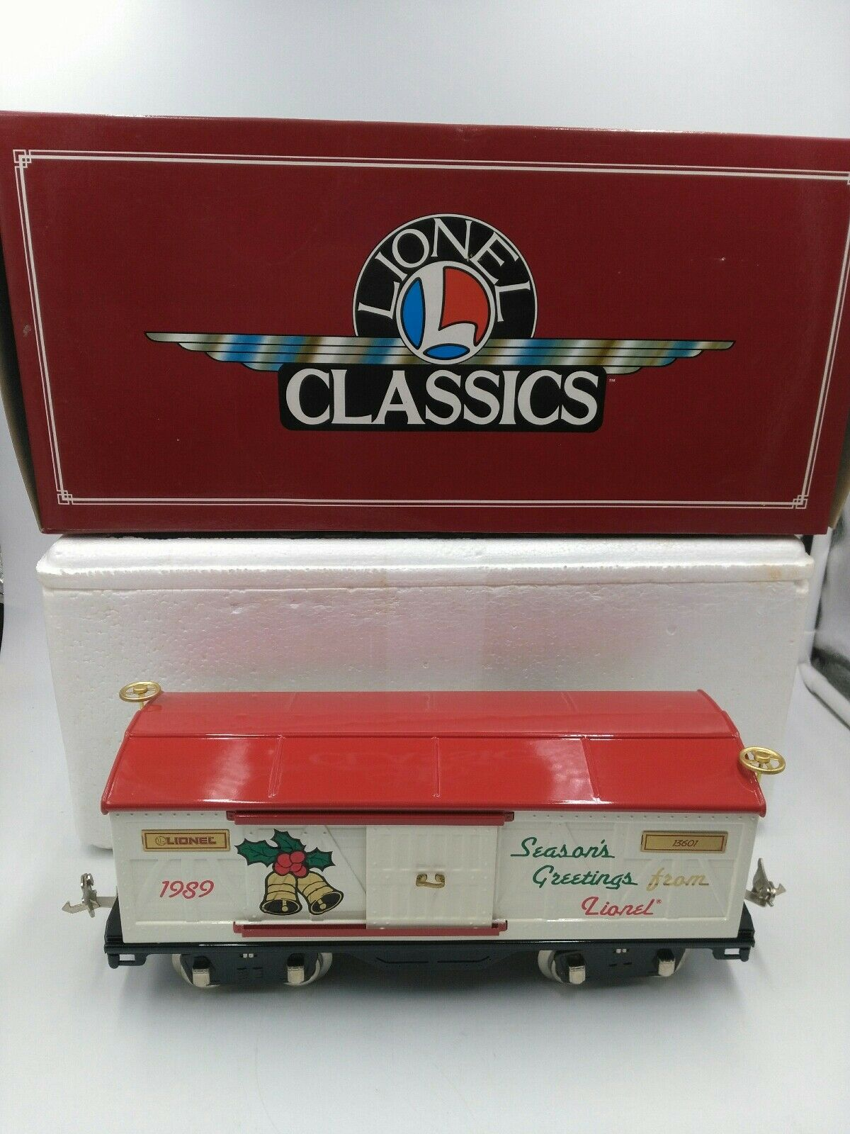 Lionel Classics Standard Gauge Tinplate 1989 Christmas Car 6-13601