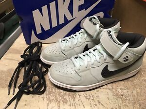 new concept 7a4e4 d843e Image is loading USED-MENS-NIKE-DUNK-MID-PRO-SB-ICE-