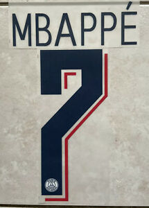 Flocage Nameset MBAPPE #7 PSG 2019-2020 Third. Champions League