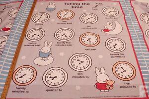 Miffy-Telling-le-Temps-Loisirs-Creatifs-Tissu-Coton-enfant-Couette-Panneau
