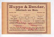 OFFENBACH, Werbung 1892, Huppe & Bender Reise-Damen-Courier-Taschen-Bügeln