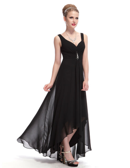 Ever-Pretty Double V Neck Black Evening Party Long Dress 09983 Size ... 6cfed5e6d