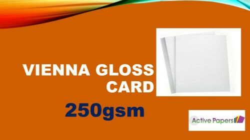 Acid Free High White Ink Jet Vienna Smooth Glossy White Card 250gsm laser