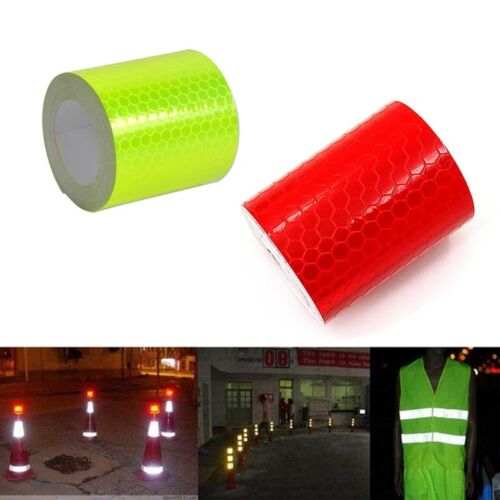Red/Green Fluorescence Pure Safety Reflective Car Wall Sticker Warning Tape