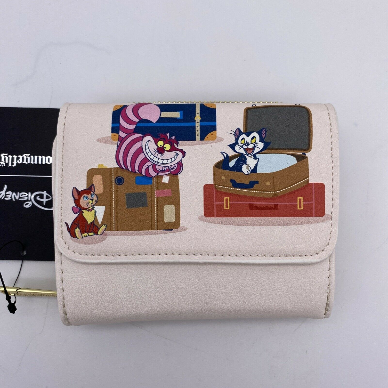 Loungefly Disney Wallet Cats Luggage Small Zip - Cheshire, Figaro, Aristocats
