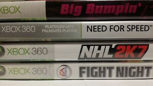 XBOX-360-Need-for-Speed-Hot-Pursuit-Big-Bumpin-039-Fight-Night-Round-3-NHL-2K7