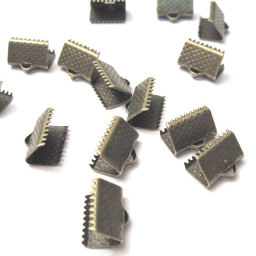 50 X Conectores Enchapados En Bronce 10x6mm Plegables Plegadores-A6702
