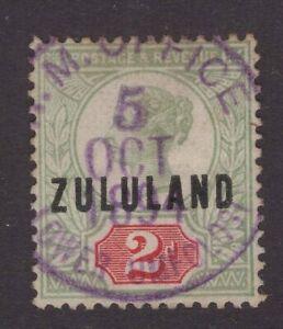 South-Africa-Zululand-Lower-Umfolosi-1894-purple-cds-2d-Qv-sg-3-cracker-item