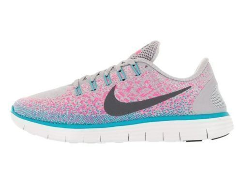 NIKE femmes FREE RN DISTANCE Chaussures SIZE 6.5 gris rose blast 827116 006